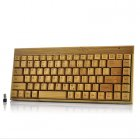 Wireless Bamboo Keyboard which is Eco Friendly and Great for Anyone Interested in Purchasing a Natural and Stylish Wireless Keyboard