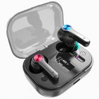 Wireless Bluetooth Earbuds TWS 5.0 Earphone Waterproof Sport Intelligent black