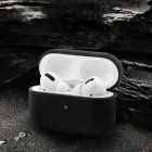 Wireless Bluetooth Earphone Cases For Apple AirPods Charging Headphones For Airpods Synthetic Leather Protective Cover black