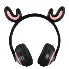 Wireless Bluetooth Headphones Head-mounted Stereo Bass Wireless Bluetooth Headset Antlers