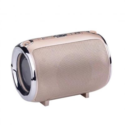 Wireless Bluetooth Portable with Super Subwoofer TWS Insert Card Mini Speaker Gold