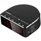 Wireless Bluetooth Radio Alarm Clock Phone Subwoofer Speaker Home Decration black_MX-01