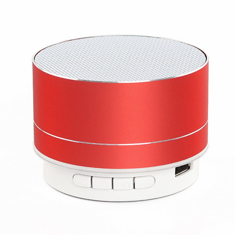 Wireless Bluetooth Speaker Metal Mini Portable Sound with Mic TF card FM radio AUX MP3 Music Play Loudspeaker Red