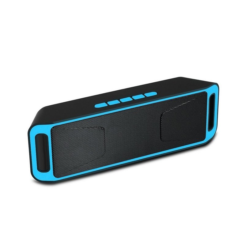 Wireless Bluetooth Speaker Column Stereo Subwoofer USB Speakers Built-in Mic Bass MP3 Player Sound Box blue