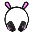 Wireless Bluetooth Stereo Cute Animal Ear Design Headphones Flashing Glowing Gaming Headset rabit ear
