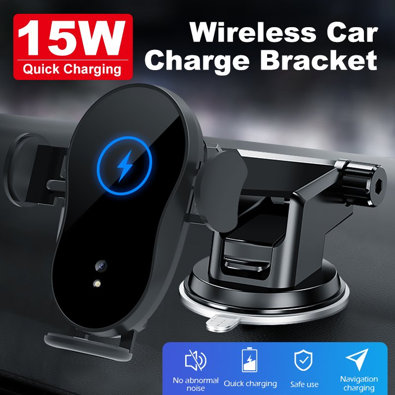 Wireless Car Charger Infrared Sensor Mount Fast Charging Holder for Phone 11 11pro X XS Max Huawei P30 Pro
