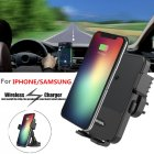 Wireless Car Charger Mount Dashboard & Air Vent Holder Cradle for iPhone X / 8 / 8 Plus, Samsung Galaxy Note 8 / S8 / S8 Plus / S7 / S6 Edge+, Qi Enabled Devices