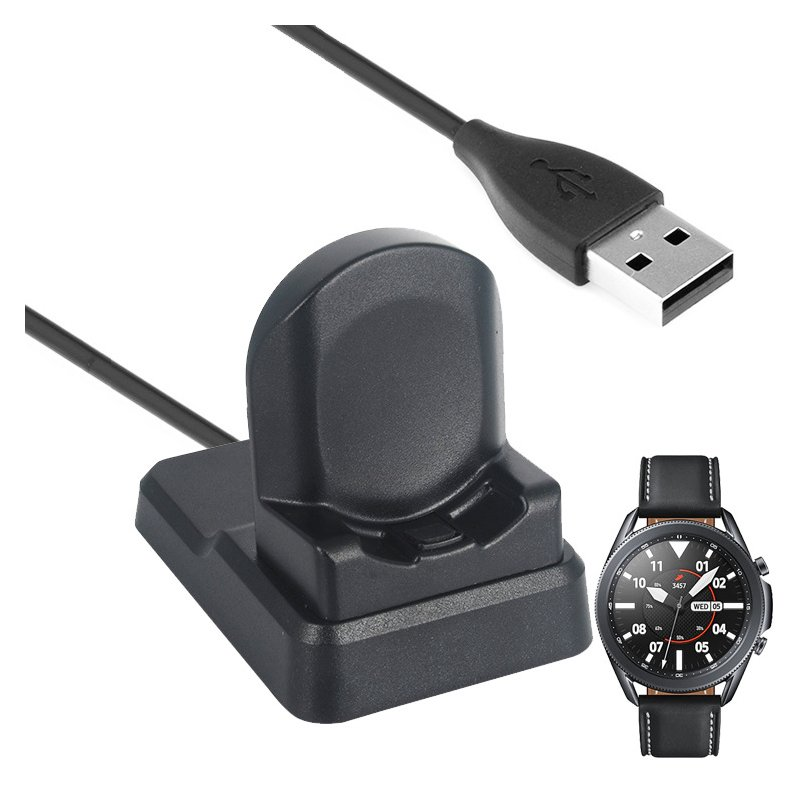 Wireless Charger for Samsung Galaxy Watch 3 for Galaxy Watch Active 2 Charger black