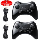 Wireless Classic Pro Controller Joystick Gamepad for Nintend wii U Pro with USB Cable black