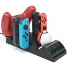 Wireless Game Controller Base Gamepad 8-in-1 Charger Base for Switch Joy Con 19035 without adaptor