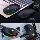 Wireless  Gaming  Mouse 2.4G Luminous Mouse For Pc Laptop Desktop Usb Recharing black