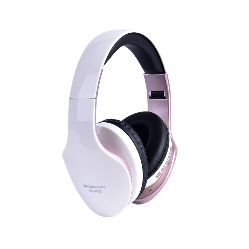Wholesale Wireless Headphones Bluetooth Headset Foldable Stereo Headphone Gaming Earphones Support Tf Card With Mic For Pc All Phone Mp3 White From China