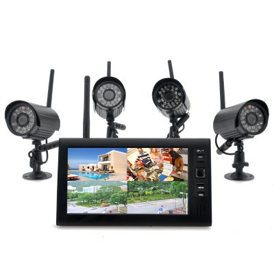 Wireless Monitor + x4 Camera System - Securia