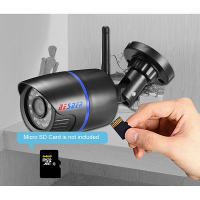 Wireless IP Camera 1080P Surveillance Waterproof CCTV Security IP Camera Wifi ONVIF Micro SD Card Slot 2 million pixels 1080P (3.6mm)