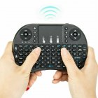 Wireless Keyboard Mini 2.4G Wireless Mini Keyboard with Touchpad for PC Android Smart TV BOX KY black