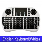 Wireless Keyboard Mini 2.4Ghz Wireless Mini Keyboard with Touchpad for PC Android Smart TV BOX KY White battery