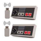Wireless Play Gaming Controller for NES mini Classic Edition With Wrireless Receiver Gamepad and USB Receiver Gray two pack