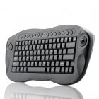 Wireless QWERTY keyboard with a built in trackball and media   internet hotkeys is ergonomically designed for maximum ease of use