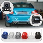 Wireless WIFI Car Rear View Reverse Parking Cam Radar Night Vision Universal Set black