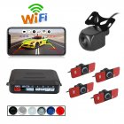 Wireless WIFI Car Rear View Reverse Parking Cam Radar Night Vision PZ600wifi-16.5 Parking camera set black