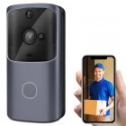 Wireless <span style='color:#F7840C'>WiFi</span> <span style='color:#F7840C'>Smart</span> <span style='color:#F7840C'>Doorbell</span> IR Video Visual Ring Camera Intercom for Home Security M10