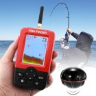 Wireless fish finder can detect fish up to depths of 36m  It provides info on the size of the fish  water temperature  bottom contour  and more