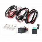 Wiring Harness Kit 12V 40A 2 Lights 1 Control Switch Relay Cable Kit for LED Work Light HID Light Searchlight