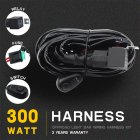 Wiring Harness Kit Single LED Light Bar Wire Switch Line 1 to 1 Car Wiring Harness black