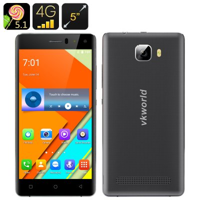 VKWorld T3 Smartphone (Black)