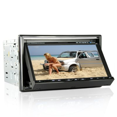 2-DIN 7 Inch LCD Car GPS Navigation Media Center w/Bluetooth