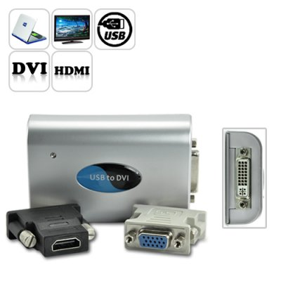 USB to DVI/VGA/HDMI Adapter