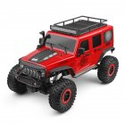 Wltoys 104311 1/10 2.4G 4x4 Crawler RC Car Desert Mountain Rock Vehicle Models With 2 Motors LED Head Light red_3 batteries