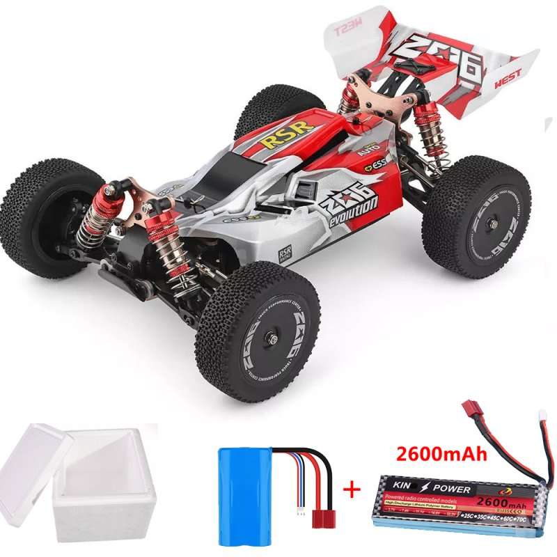 Wltoys 144001 1/14 2.4G 4WD High Speed Racing RC Car Vehicle Models 60km/h 7.4V 2600mAh Battery red