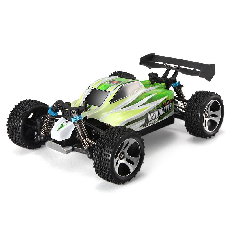 Wltoys A959-B 2.4G Remote Control 4WD Off-road 1:18 Full-scale Drift High-speed Car green_1:18
