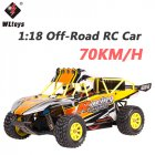 Wltoys K929-B High Speed 70KM/H RC Car 1:18 4WD Off-Road RC Drift Car Remote Control Car Radio Control Carro Controle Remoto yellow