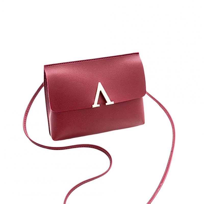Woman Chic Single Shoulder Satchel Crossbody Bag red