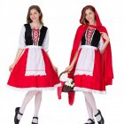Woman Large Size Beer Festival Hollow Lace Dress Halloween Party Special Festival Costume Uniform red M