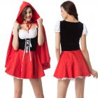 Woman Plus-size Sexy Slim Dress Halloween Special Festival Costume Maid Uniform red_XXXL