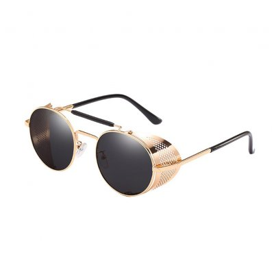 Woman Steampunk Sunglasses Retro Colorful Film Reflective Frog Street Fashion Sunglasses 57 3 66247m78m
