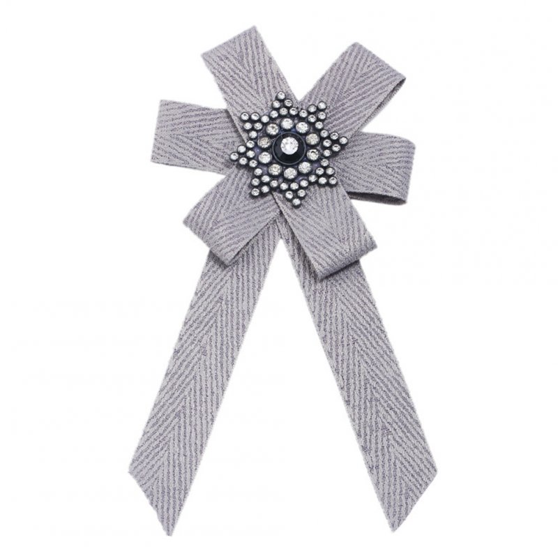Woman Stylish Exquisite Diamond Cloth Art Bow Corsage Creative Unique Tie Birthday Gift