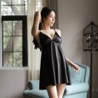 Woman Wings Sling Dress Sexy Underwears Suit Gauze See-through  Backless Sexy Nightdress black_Free size
