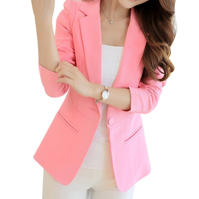 Women Casual Solid Color Slim Jacket