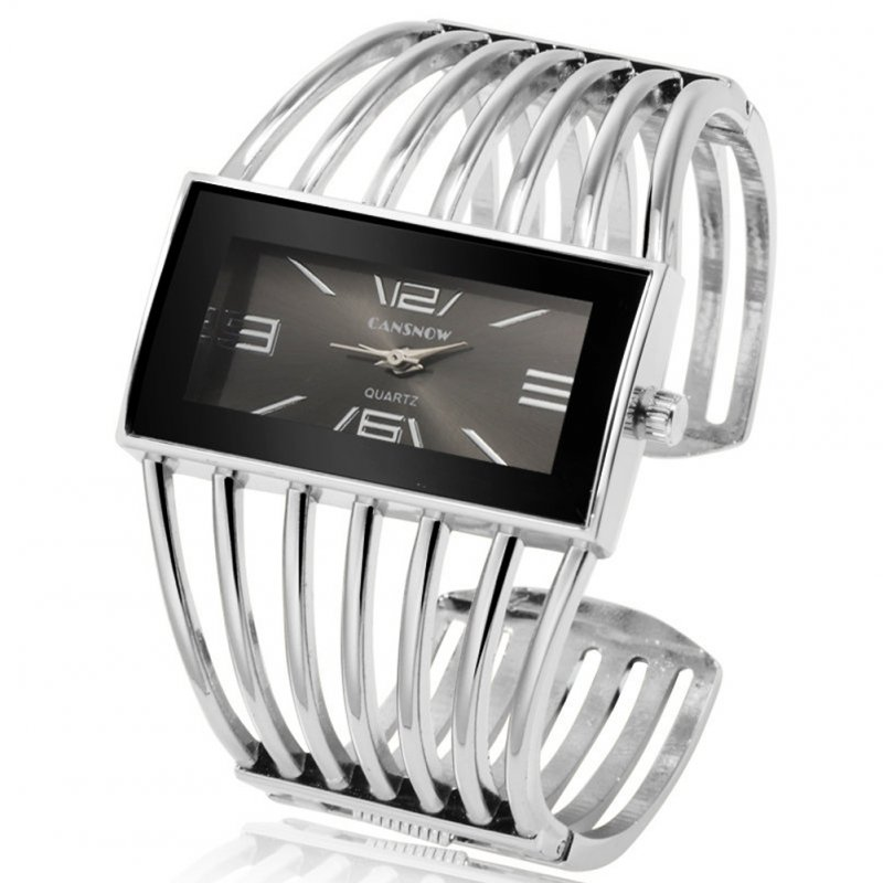 Women Creative Waterproof Alloy Quartz Rectangular Dial Fashion Bracelet Watch Wristwatch 6#
