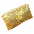 Women Dazzling Glitter Sequins Handbag Portable Zipper Envelope Package