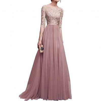 Women Delicate Chiffon Evening Dress