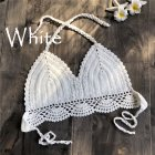 Women Delicate Knit Bikini Tops All-matching Bra white_L