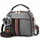 Women Elegant All-match Cute Hairball Single-shoulder Bag