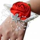 Women Elegant Chic Floral Bracelet Bride Exquisite All-match Wedding Wrist Band