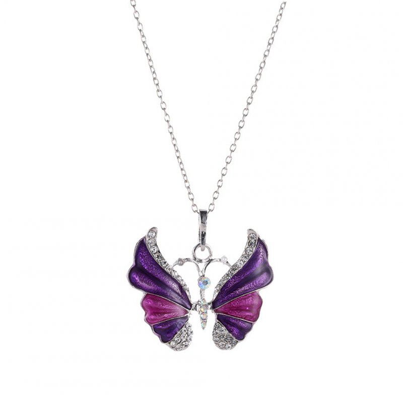 Women Fashion Butterfly Versatile All Matching Sweater Chain