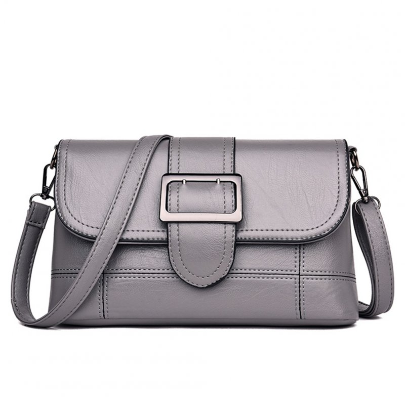 Women Fashion Single Shoulder Satchel with Magnetic Snap gray